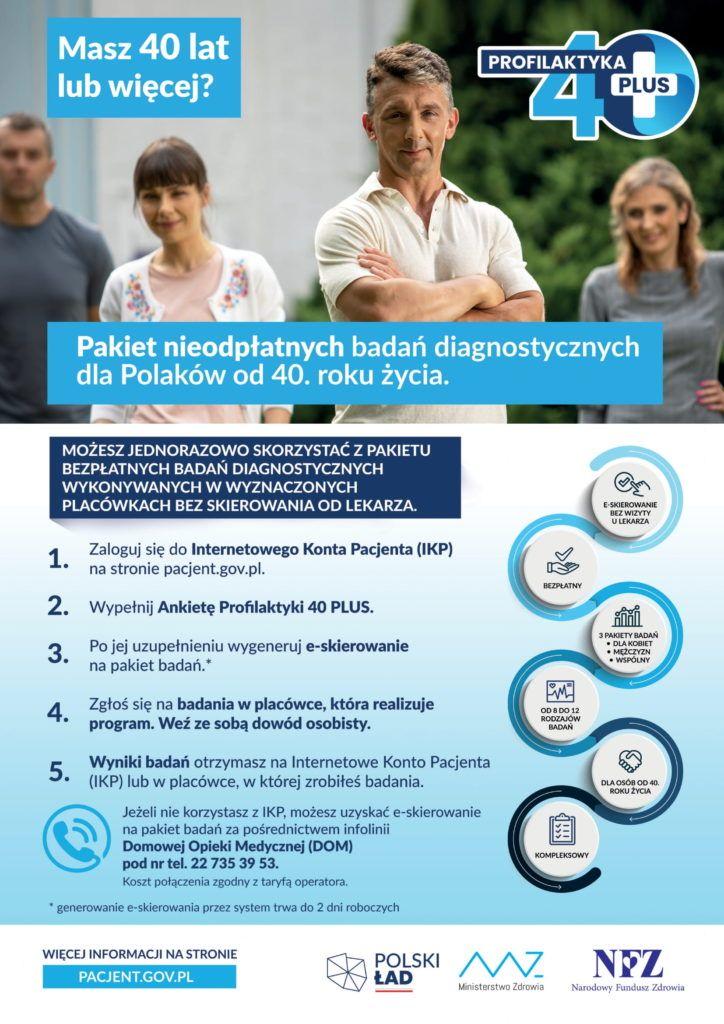 informacja o profilaktycznych badaniach